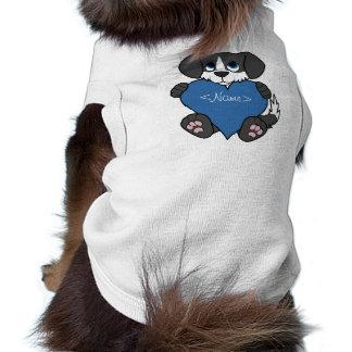 Valentine's Day Black Dog with Blaze & Blue Heart Tee