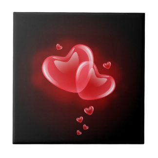 Valentine's day blazing hearts tile