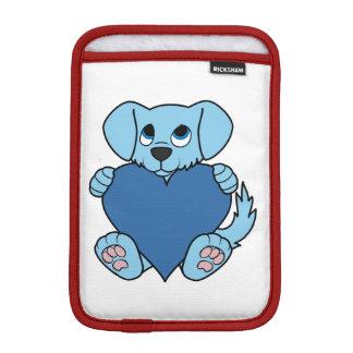 Valentine's Day Blue Dog with Heart iPad Mini Sleeve
