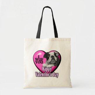 Valentines Day Boston Terrier bag