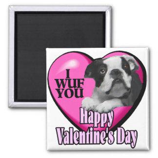 Valentines Day Boston Terrier Refrigerator Magnets
