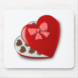 Valentine's Day Box of Chocolates Mouse Pad