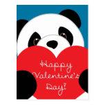 Valentine's Day Boy Panda Postcard