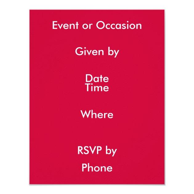 Valentine's Day Bridge Game 4.25x5.5 Paper Invitation Card (back side)