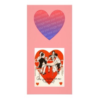 Valentine's Day Bridge Game Card