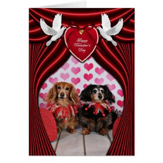 Valentine's Day - Brooklyn & Mandy - Dachshunds Card