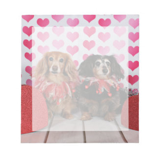 Valentine's Day - Brooklyn & Mandy - Dachshunds Notepad