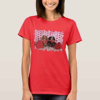 Valentine's Day - Brooklyn & Mandy - Dachshunds T-Shirt