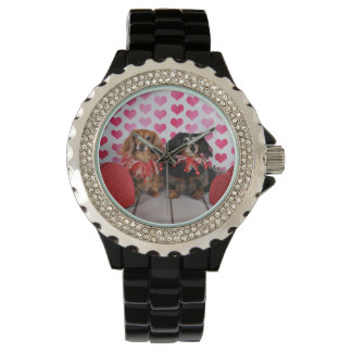 Valentine's Day - Brooklyn & Mandy - Dachshunds Wrist Watches