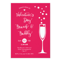 Valentine's Day Brunch & Bubble Invitation