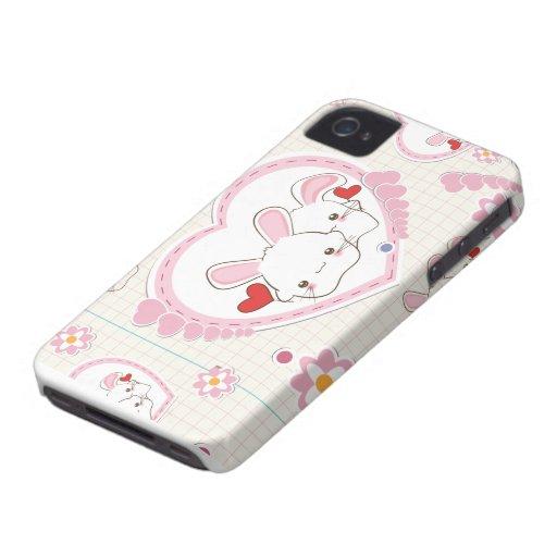 Valentine's Day Bunnies iPhone 4 Case-Mate Case