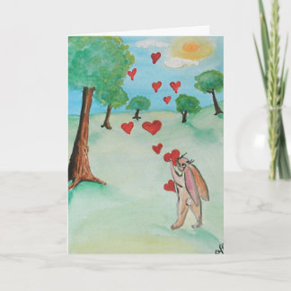 Valentines Day Bunny Love card