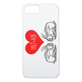 Valentine's Day Bunny Love Personalized iPhone 8/7 Case