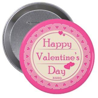 """Valentine's Day Button - """"Happy Valentine's Day"""""""