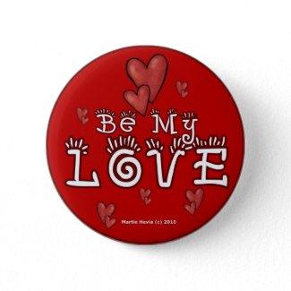 Valentine's Day Buttons/Pins (3) button