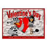Valentine's Day can kiss my shiny red...: Jailbird Card