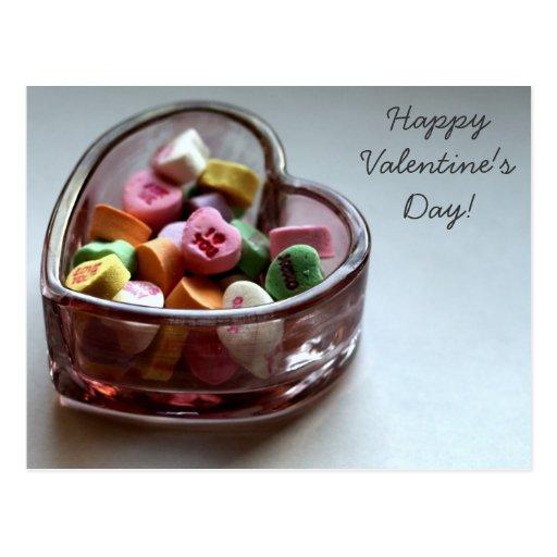 Valentine's Day Candies Postcard