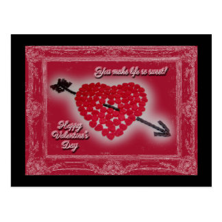 Valentine's Day Candy Heart Greeting Postcard