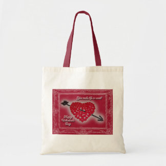 Valentine's Day Candy Heart Greeting Tote Bag
