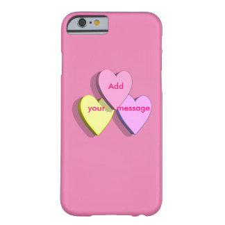 Valentine's Day Candy Heart iphone Case Add Text