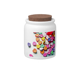Valentine's Day Candy Hearts Candy Jar