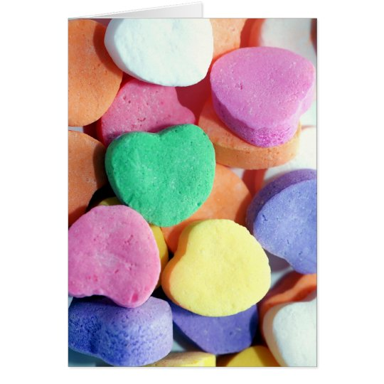 Valentines Day Candy Hearts Card