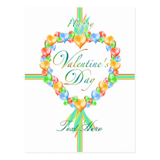 Valentine's Day Candy Hearts Custom Postcard