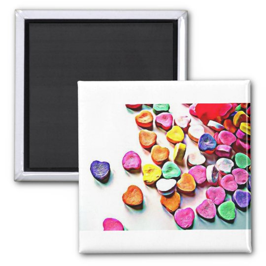 Valentine's Day Candy Hearts Magnet