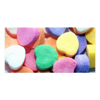 Valentines Day Candy Hearts Personalized Photo Card