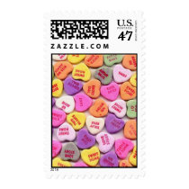 Valentine's Day Candy Hearts Postage Stamp
