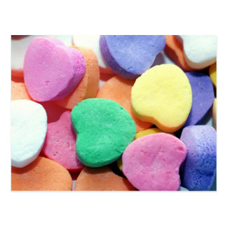Valentines Day Candy Hearts Postcard
