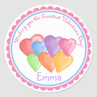 Valentines Day Candy Hearts Stickers