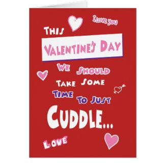 Valentine's Day Card Cuddle