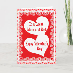Mom valentines day cards zazzle valentines day card for a special mom and dad m4hsunfo
