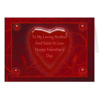 Valentine's Day Card For Brother And Sister In-Law