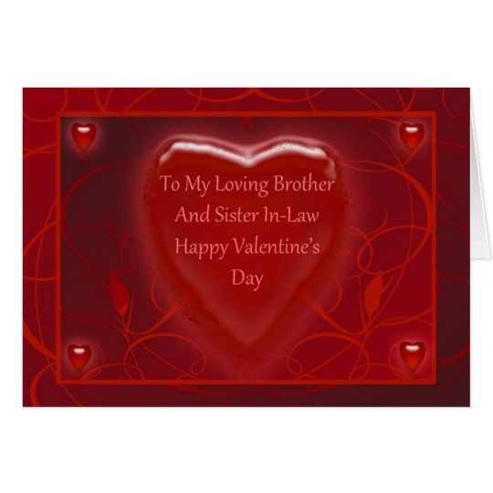 Valentineu0027s Day Card For Brother And Sister In Law