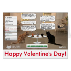 Valentine's Day Card For Cat Lovers at Zazzle