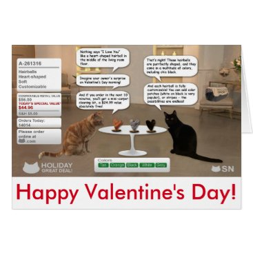 CrazyTabby Valentine's Day card for cat lovers