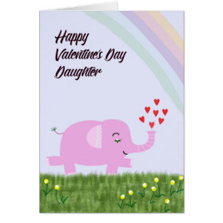 valentines day card for young daughter - Valentines Day Daughter