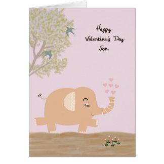 Elephant Valentine Greeting Cards  Zazzle