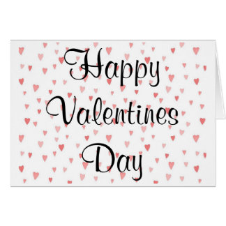 Valentine's Day Card  Hearts
