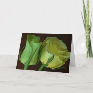 Valentine's Day Card-Jade&Yellow Roses card