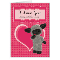 Valentine's Day Card Modern With Cute Sheep