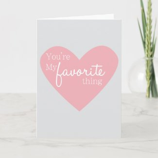 Valentine's Day Card Pink and Grey