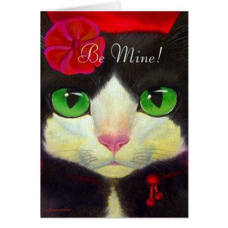 VALENTINE'S DAY CARD - TUXEDO CAT - Customized
