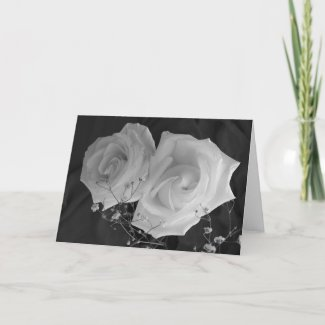 Valentine's Day card - White Roses card