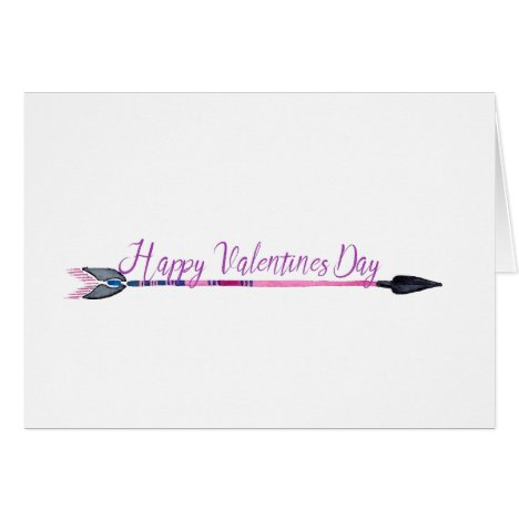 Valentines Day Card with Arrow