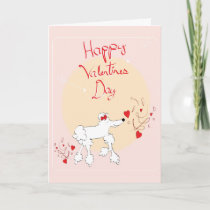 Valentine's Day Card with cute poodle