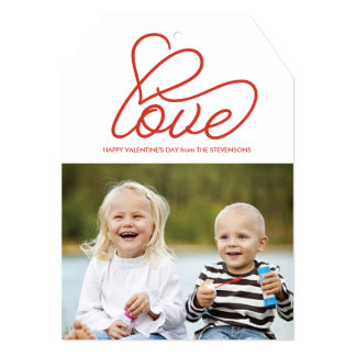 Valentine's Day Card with Love and Photo