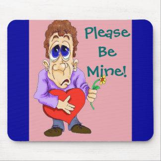 Valentines Day Cartoon Be Mine Mousepad